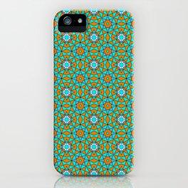 Moroccan Tile 1A - Blue iPhone Case