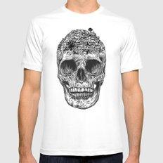 Skull Island MEDIUM Mens Fitted Tee White