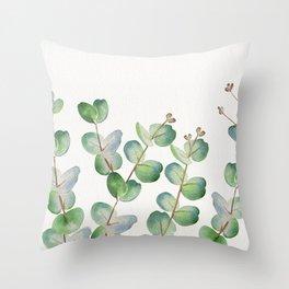 Eucalyptus Watercolor 3 Throw Pillow
