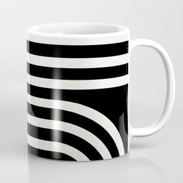 Minimal Line Curvature - Black and White III Coffee Mug