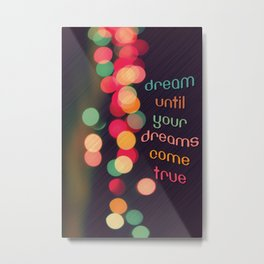 Vintage Colorful Christmas Bokeh Metal Print