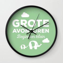 Grote avonturen Wall Clock