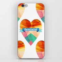 feminist iPhone & iPod Skins featuring Feminist by The Pairabirds