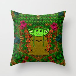 Gnomelorian stand for happy rights in natures color pop-art Throw Pillow