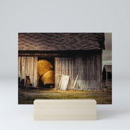 Barrels Of Hay Mini Art Print