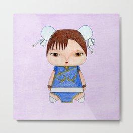 A Girl - Chun-Li Metal Print