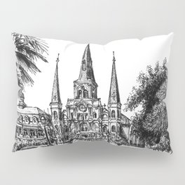 St. Louis Cathedral, New Orleans Pillow Sham