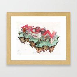 Meghan + Nicholas  Framed Art Print