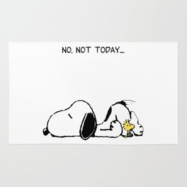 not not today snoopy Rug