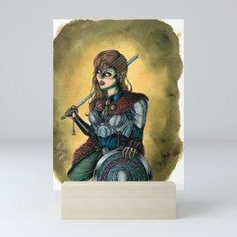 Portrait of Shieldmaiden Mini Art Print