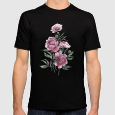 peony Black MEDIUM Mens Fitted Tee