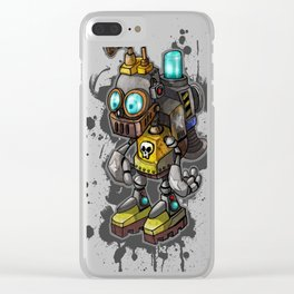 Robot Kid Clear iPhone Case