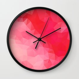 """Red queen"" geometric design Wall Clock"