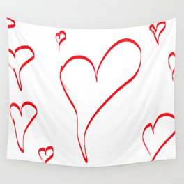 Several red hearts, love, sentimentality, romanticism Wall Tapestry