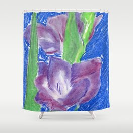 Violet Glad Shower Curtain