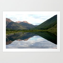 View of the Red Mountains above Ironton Park, from Crystal Lake Art Print
