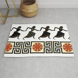 Line of Etruscan Dancers Rug