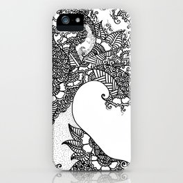 Zen Tree Rebirth White Right Half iPhone Case