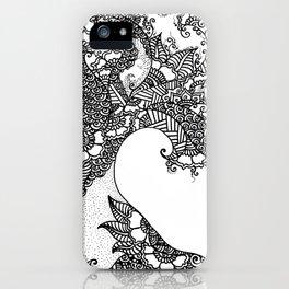Zen Tree Rebirth White Right Half iPhone Case