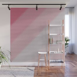 Gradient Pink Legos Wall Mural