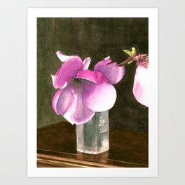 Magnolia in Glass Vase Art Print