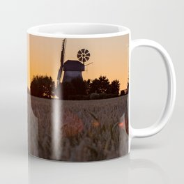 North German windmill from old time in the sunset Coffee Mug