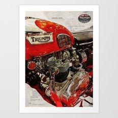 Triumph Bonneville T120 1969 Art Print