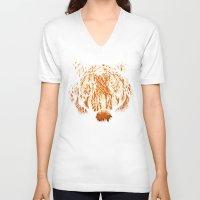 hunter V-neck T-shirts featuring Hidden Hunter by carbine