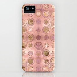 Geometric Pattern - Onyx and Golden Texture iPhone Case