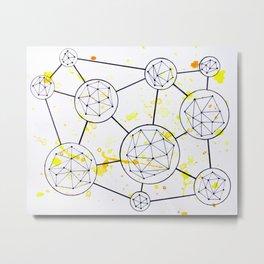 Geometric Connections Metal Print