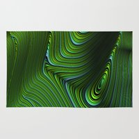 malachite Area & Throw Rugs featuring Malachite by Vix Edwards - Fugly Manor Art
