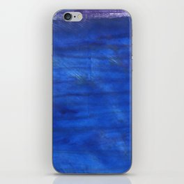 Denim Blue abstract watercolor background iPhone Skin