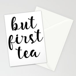 But First Tea, Kitchen Decor, Kitchen Wall Art Stationery Cards