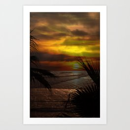 Sunset Palms ~ Pacific Ocean ~ California Art Print