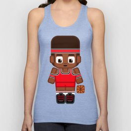 Basketball Red and Black Unisex Tank Top