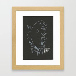 WhiteShark Framed Art Print