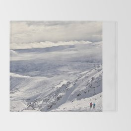 Snowy landscape Throw Blanket