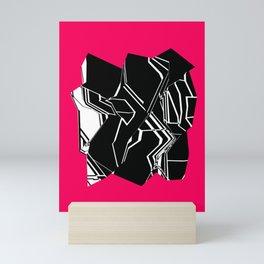 Black and White Geode Mini Art Print