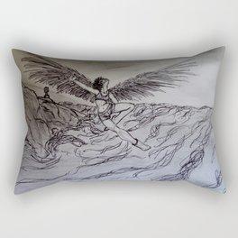 Girl in Flight Rectangular Pillow
