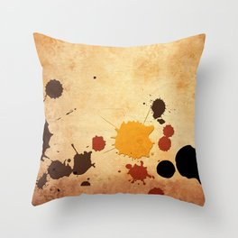 Abstract Indian Yellow Splash Throw Pillow
