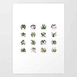 Camo pixel Art Print