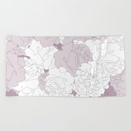Tender Roses Beach Towel