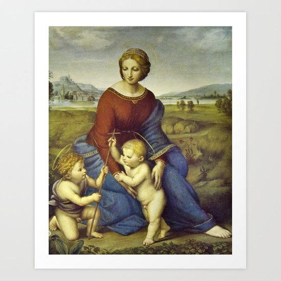 Madonna of the Meadows by Raphael by palazzoartgallery
