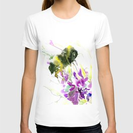Bumblebee and Flowers floral bee design T-shirt