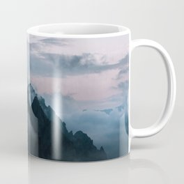 Dolomite Mountains Sunset covered in Clouds - Landscape Photography Coffee Mug