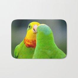 Superb Parrots Arguing Bath Mat