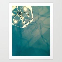 Chandelier Shadows Art Print
