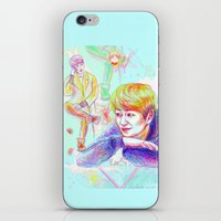 shinee iPhone & iPod Skins featuring SHINee Onew by sophillustration