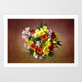 Bouquet Flowers Art Print