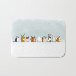 Winter forest animals Bath Mat